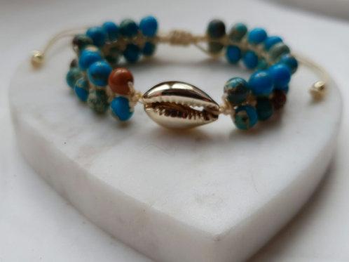 Ibiza Shell & Turquoise Bracelet
