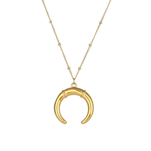 Andalusia Gold Horn Necklace