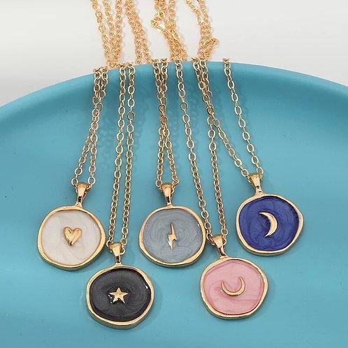 Luna Pink Pendant Necklace