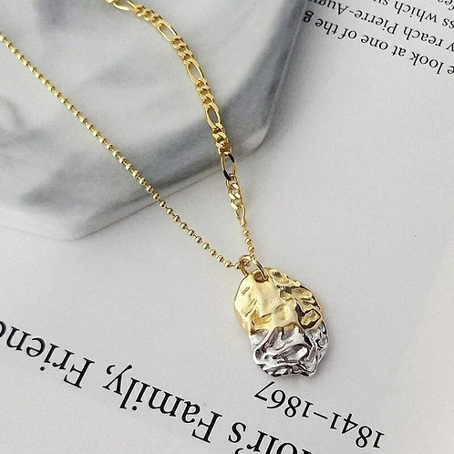 Gianna Silver & Gold Pendant Necklace