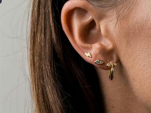 Mini Eye Stud Earrings - Gold or Silver