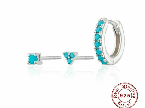 Odette Earring Set - silver