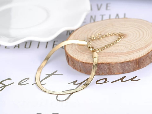 Snakechain Bracelet - silver, gold or rose gold