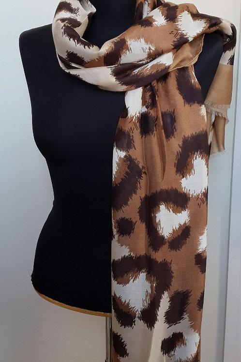Caramel Leopard Print Scarf