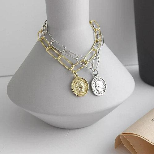 Vivienne Sterling Silver Paperlink Bracelet