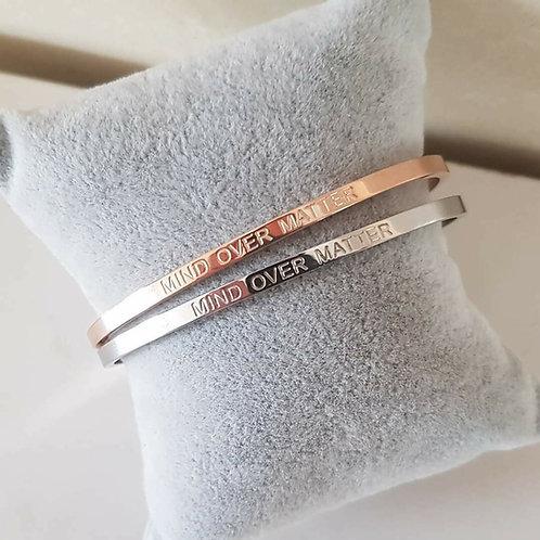 MIND OVER MATTER - Engraved Message Bracelet