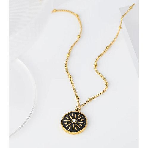 Beau Black Pendant Necklace