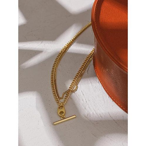 Francesca T Bar Necklace - Gold or Silver