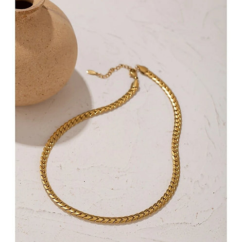 Gia Snake Chain Necklace  - Gold or Silver