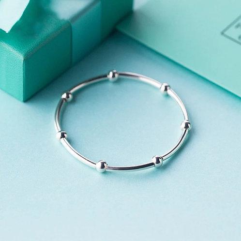 Santiago  Sterling Silver Stretch Bracelet