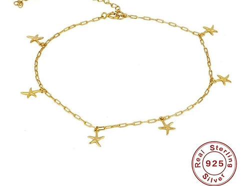 Starfish Anklet - Silver or Gold