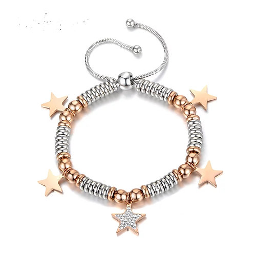 Star Slider Bracelet - Stainless steel