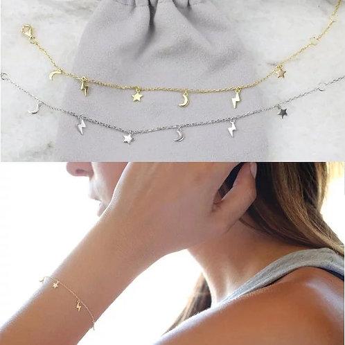 Astrid Sterling Silver Bracelet - gold or silver