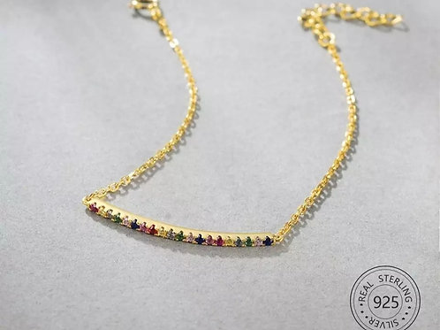 Rainbow Crystal Bracelet - Sterling silver