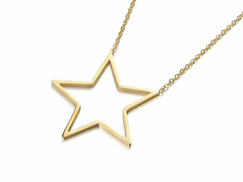 Seren Star Necklace - silver, gold or rose