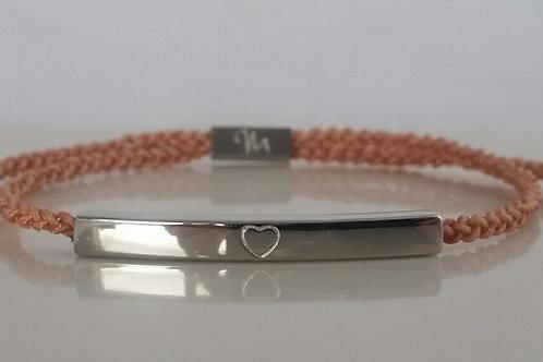 MisG Braided Bracelet - Silver stainless steel