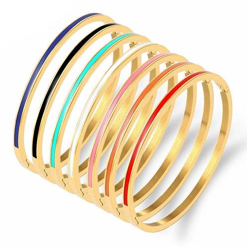 India Enamel Bracelet - 5 colours available