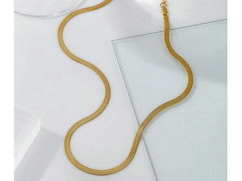 Snakechain Necklace - silver, gold or rose gold