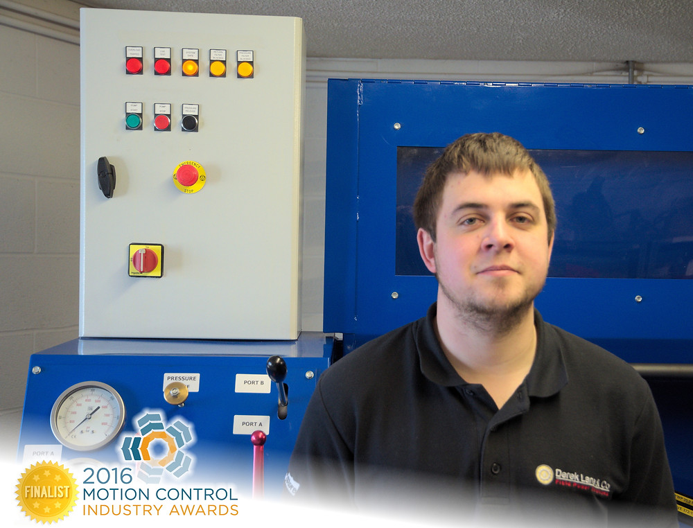 Hydraulic and Pneumatic Servicer and Supplier Derek Lane & Co's Will Broome Nominated for Motion Control Engineer of the Year.