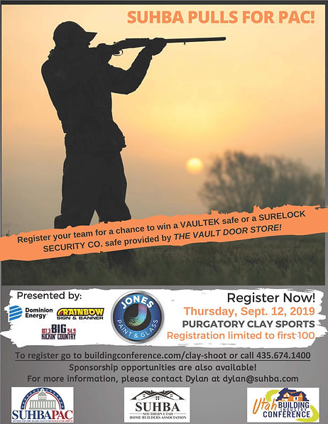2019 SUHBA PAC Clay Shoot Flyer w Safes-