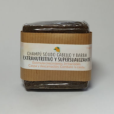 Champú Sólido Cabello y Barba Extranutritivo y Supersuavizante