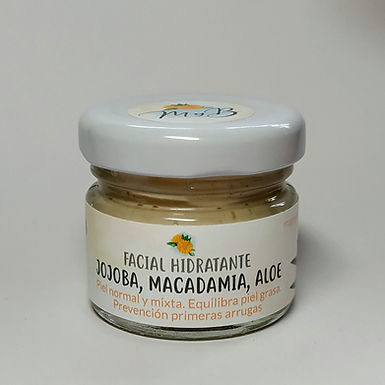 Facial Hidratante Jojoba, Macadamia, Aloe