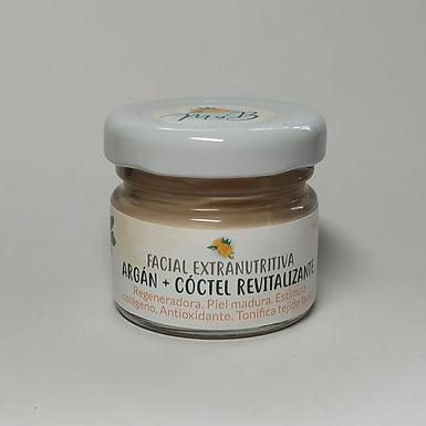 Facial Extranutritiva Argán + Cóctel Revitalizante