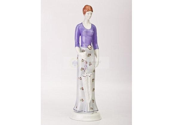 Woman with Umbrella Figurine