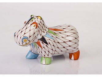 Jardin collection, animal, figure, porcelain, Hippo