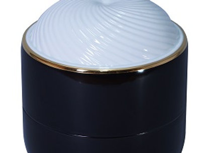 Raven Urn with White Lid