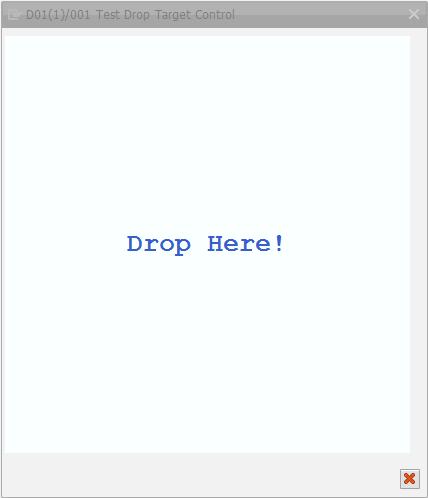 Drop Target Control