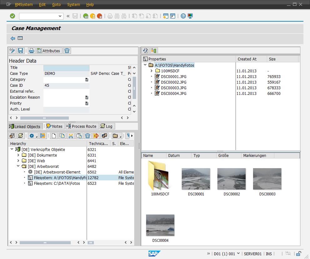 File System Service Provider für SAP