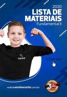 LISTA DE MATERIAIS - FUNDAMENTAL II