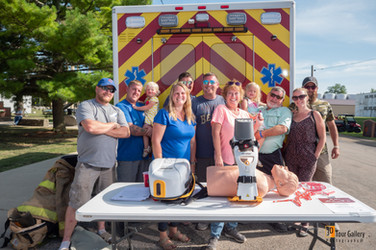Sparks Construction LLC  from Bloomington Normal Il holds Lucas Device Fundraiser for the Hudson Fire Department