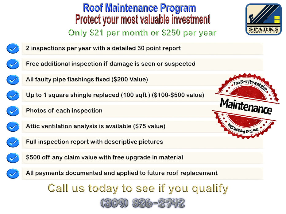 Sparks Construction Roof Maintenance Program