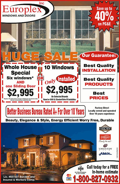 window and door installers haywardd
