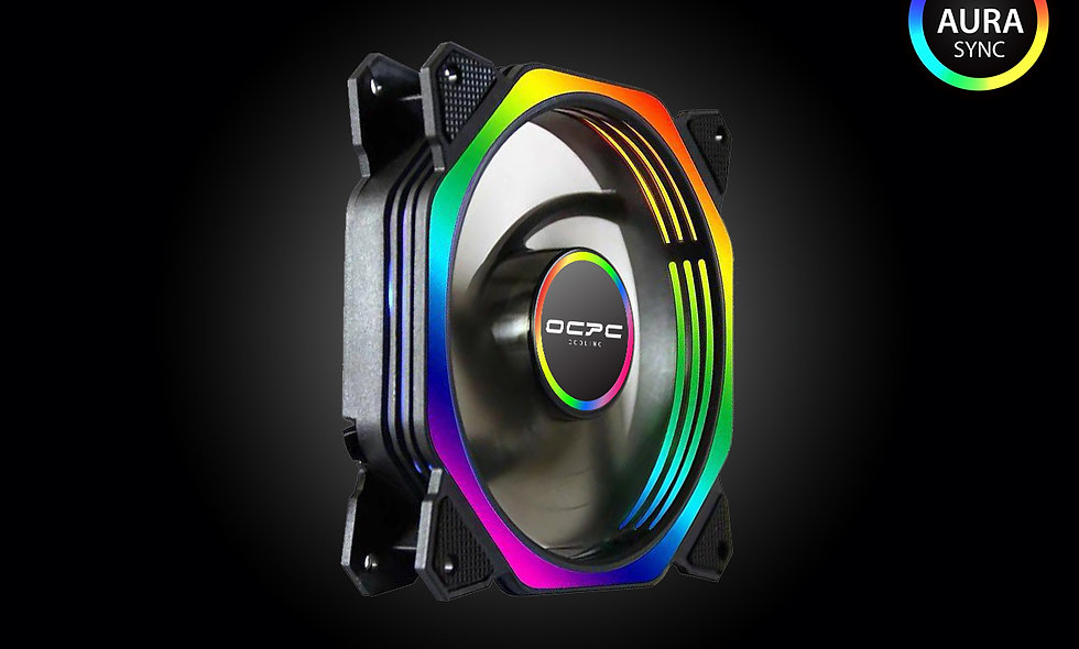 OCPC OCT1 RGB AURA COOLING FAN 120MM