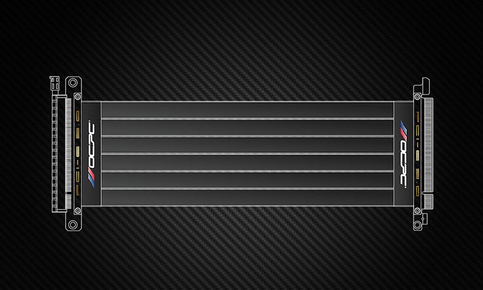 PCI-E 3.0 16X EXTENDER RISER CABLE 250MM (BLACK)