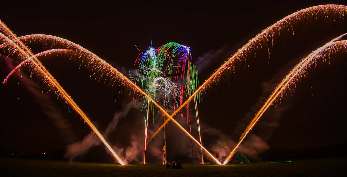 Wedding firework display in Lancashire by Northern Lights Firework company