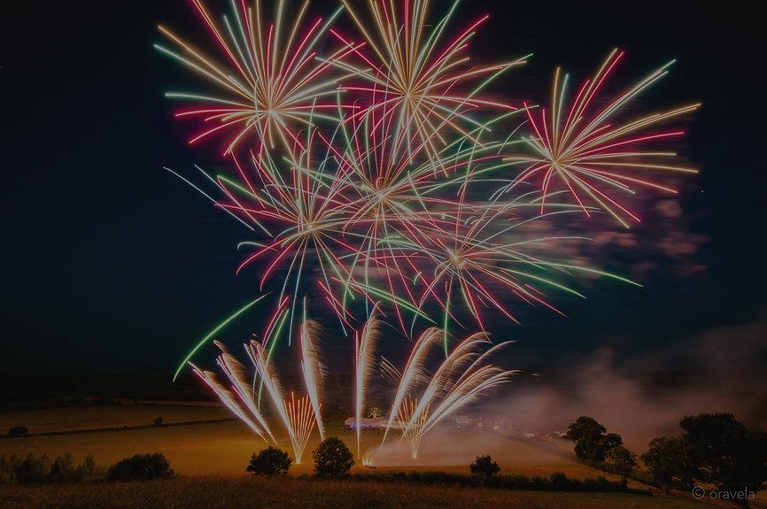 Wedding firework display in Shropshire by Northern Lights Fireworks