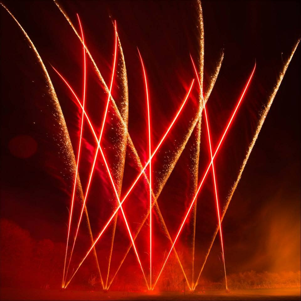 Northern Lights Fireworks Weddings