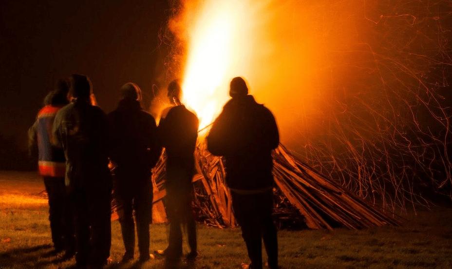 Northern Lights Fireworks Bonfire Night