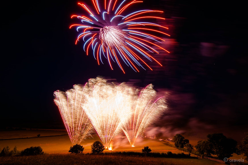 wedding firework display in Cheshire