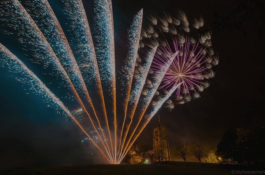 Firework display at Lancaster Castle by Northern Lights Fireworks