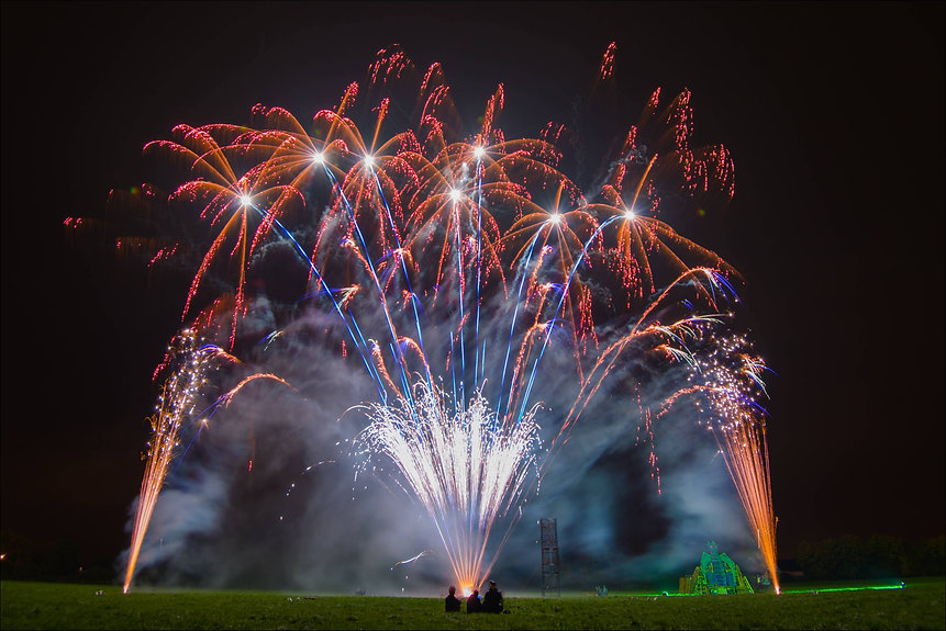 Bonfire night firework display in Shepton Mallet by Northern Lights Fireworks