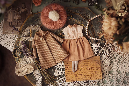 """Autumn clothes set for 1/6 doll. Collection """"Forest girls"""": acacia"""