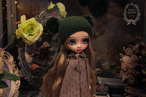 Dark green hat for Pullip, Blythe