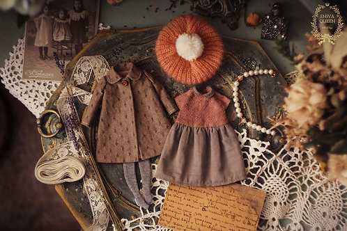 "Autumn clothes set for 1/6 doll. Collection ""Forest girls"": Nutwood"