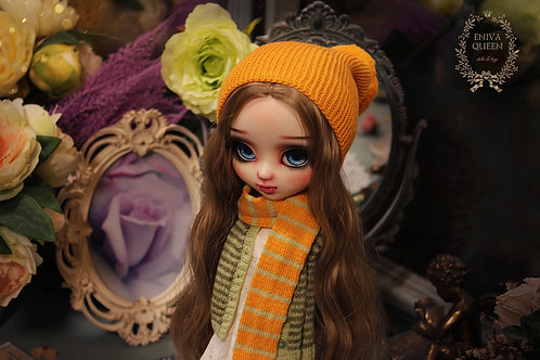 Yellow beanie hat for Pullip