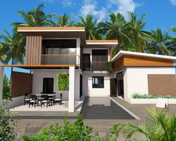 affordable pool villa type B2
